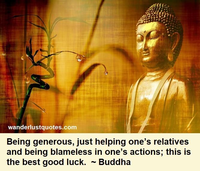 buddha luck quote
