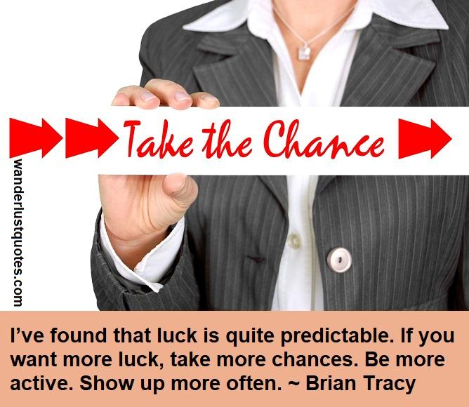 vhance of luck
